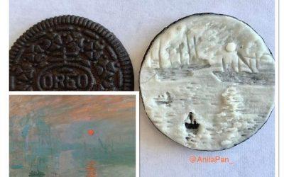 Obras de arte que cabem no recheio dos biscoitos Oreo